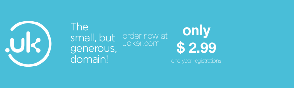 Celebrate .uk's first birthday with us – one year for only USD 2.99