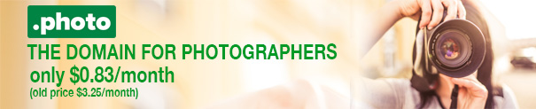 The best domain for photographers, now for a special price