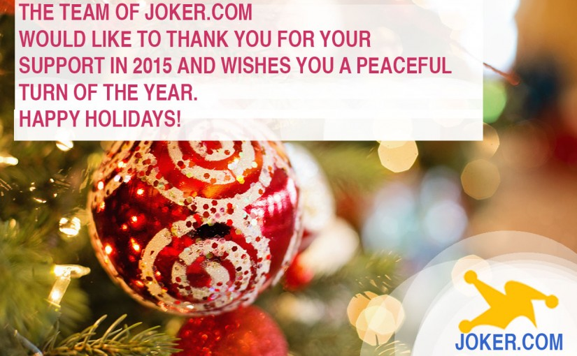 Seasons Greetings From Joker.com