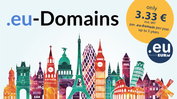 .eu domains for only Euro 3.33/year